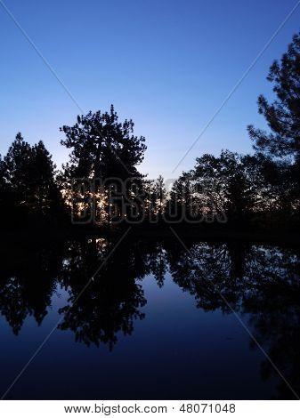 Sierra Dusk Reflection