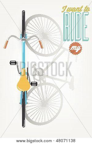 É um bom dia para ter um bom dia - Poster de bicicleta Ilustração tipográfica