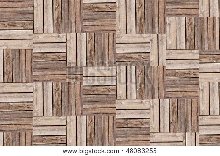Background Of Parquetry Style.