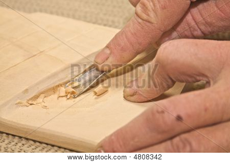 Wood Carving With A Chisel