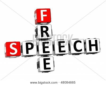 3D Free Speech Crossword