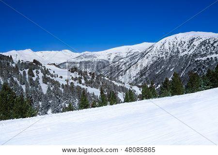 Mountain Landscape In Ski Resort