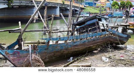 Skeleton Of Fishing Boat