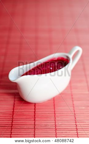 Sauce Boat With Red Sauce