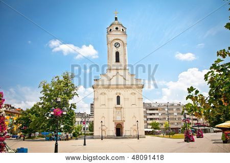 Orthodox church on the main square in Smederevo, Serbia