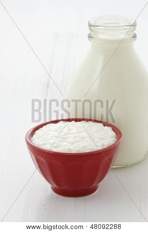 Delicious Healthy Milk And Cottage Cheese