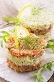 tatar with salmon and avocado