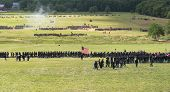 GETTYSBURG, PENNSYLVANIA - JULY 7: Reenactors at the 150th anniversary of the American Civil War on