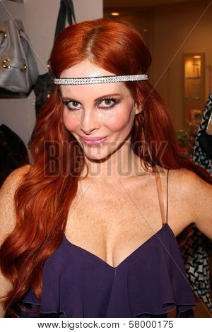 Phoebe Price  at Jennifer Kaufman Boutique at the Beverly Center, where Phoebe Price Headbands are sold, Jennifer Kaufman Boutique, Beverly Center, Los Angeles, CA. 09-12-08