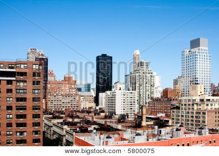 Building Rooftops Under Blue Sky