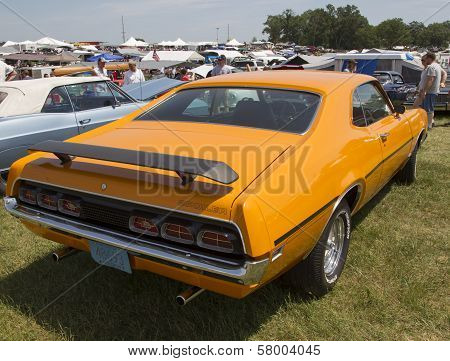1970 Orange Mercury Cyclone Spoiler Side View