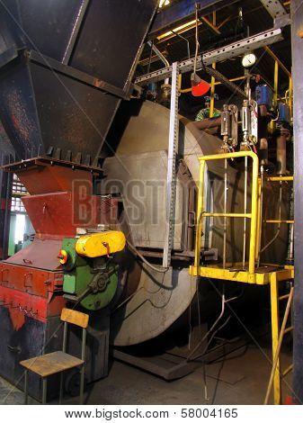 Old Little Boiler Flue And Smoke Tube Flue For Coal Burned