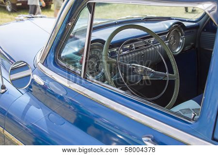 Blue Oldsmobile Ninety Eight Interior