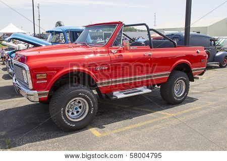 Red Chevy K5 Blazer