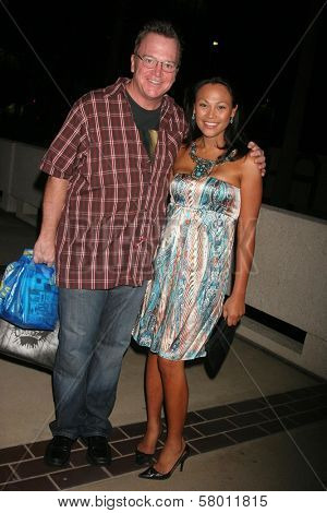 Tom Arnold and Cassandra Hepburn  at the Launch Party for Ikea's 'Easy To Assemble' Web Series. Architecture and Design Museum, Los Angeles, CA. 09-18-08