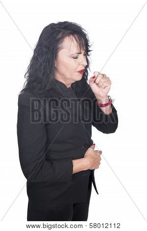 Adult Woman Coughing