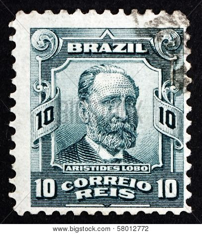 Postage Stamp Brazil 1906 Aristides Lobo, Politician