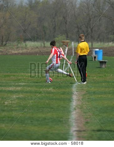 Corner Kick From The Sideline