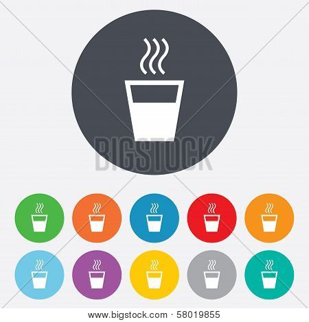 Hot water sign icon. Hot drink symbol.