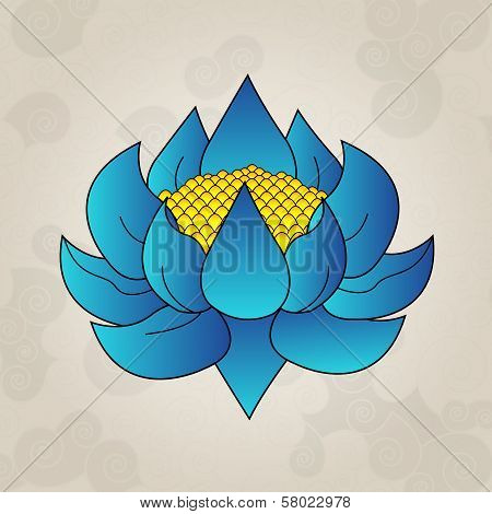 Blue lotus, japanese tattoo