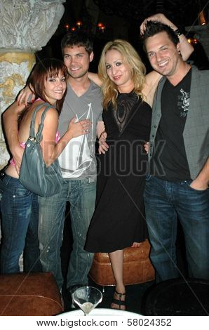 Amy Paffrath and Drew Seeley with Jennifer Leeser and Brandon Slavinski  at the Birthday Party for Jennifer Leeser. Medusa Lounge, Los Angeles, CA. 09-25-08