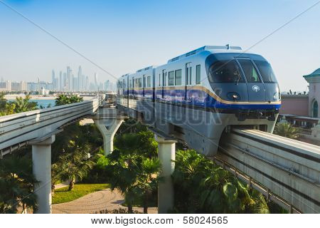 Monorail Station On A Man-made Island Palm Jumeirah