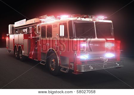 Fire truck with lights