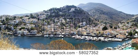 Picturesque Panorama Of Symi Port