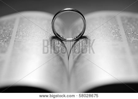 Ring on bible