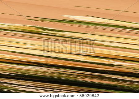 Digital Background Of Colored Beige And Green And Brown And Yellow Stripes. Glitch Art.