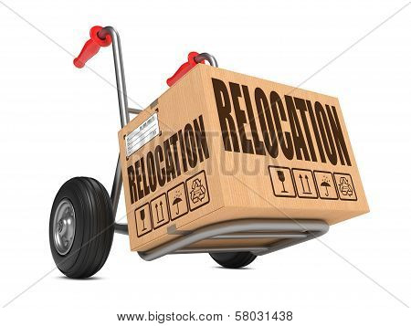 Relocation - Cardboard Box on Hand Truck.