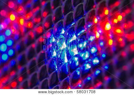 Blue Red Lights Through Lens Arrays