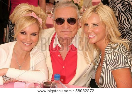 Bridget Marquardt with Hugh M. Hefner and Dalene Kurtis  at the 2008 Playmate of the Year Luncheon. Playboy Mansion, Holmby Hills, CA. 05-08-08