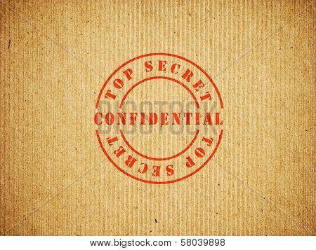 Top Secret Confidential box