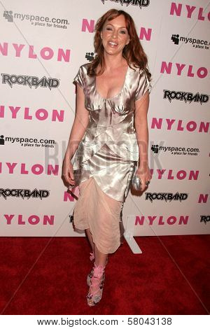 Jenny McShane  at the Nylon Magazine and Myspace Party. Private Location, Los Angeles, CA. 06-03-08