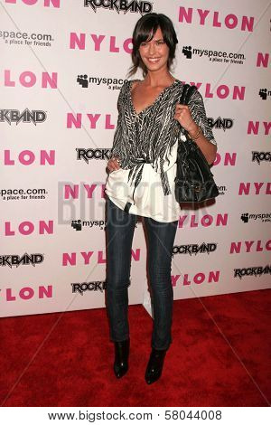 Odette Yustman  at the Nylon Magazine and Myspace Party. Private Location, Los Angeles, CA. 06-03-08