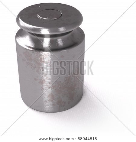 Calibration Weight On White Background
