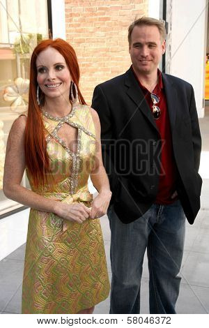 Phoebe Price and Jerry L. Mowery Jr.  at a press conference to announce a lawsuit against Chanel for not honoring her invite to their red carpet store opening. Chanel, Beverly Hills, CA. 06-06-08