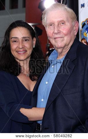 Sumner Redstone and wife Paula  at the Los Angeles Premiere of