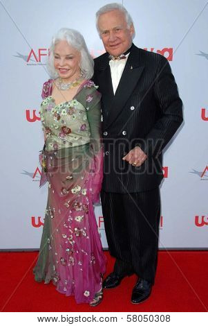 Buzz Aldrin and wife Lois  at the 36th AFI Lifetime Achievement Award Tribute To Warren Beatty. Kodak Theatre, Hollywood, CA. 06-12-08