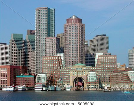 Boston Skyline From Water