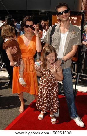 Debi Mazar and family  at the world premiere of