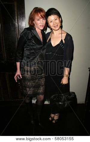 Jenny Mcshane and Lisa Gao  at the party celebrating the opening night of the play