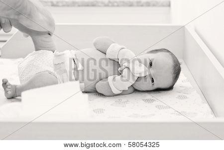 Newborn Baby In Maternity Hospital