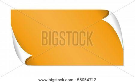 Orange Glossy Label
