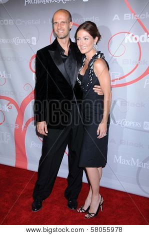 Edoardo Ponti and Sasha Alexander  at the 2008 Crystal And Lucy Awards Gala. Beverly Hilton Hotel, Beverly HIlls, CA. 06-17-08