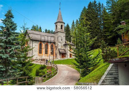 Church In Madonna Di Campiglio