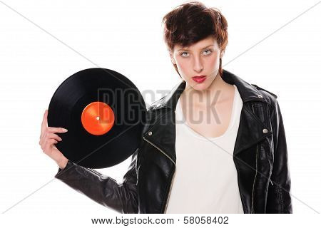 Stylish Woman With A Record