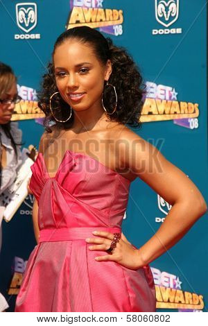 Alicia Keys  at the BET Awards '08. Shrine Auditorium, Los Angeles, CA. 06-24-08