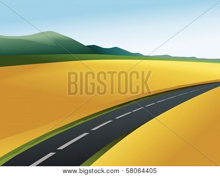 Rural landscape with road